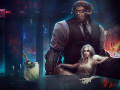 Shadowrun Characters by DavidSondered on DeviantArt Cyberpunk Aesthetic, Cyberpunk 2077, Arte Sci Fi, Sci Fi Art, Character Concept, Character Art, Concept Art, Aliens, Shadowrun Rpg