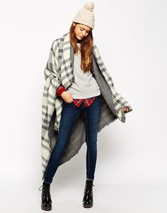 ASOS Oversized Reversible Check Scarf