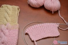 Комбинезон с косами » Вязание спицами и крючком Knitted Hats, Crochet Hats, Baby Cocoon, Baby Cardigan, Baby Knitting, Crochet Bikini, Wool, Pattern, Kids