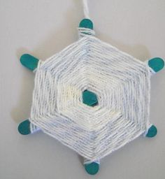 Woven Snowflake - Pinned by @PediaStaff – Please visit http://ht.ly/63sNt for all (hundreds of) our pediatric therapy pins