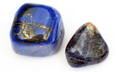 Tumbled Lapis Lazuli having pyrite(yellow)crystals