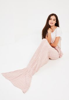 This pink mermaid fishtail blanket is high on our wish list for keeping toasty in style this season!