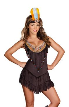 Amazon.com: Dreamgirl Reservation Royalty Native American Costume: Clothing