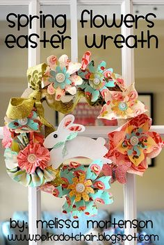 Another adorable Easter wreath...but I want to do outstretched like a garland