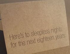 Sleepless nights baby card   9 Spot Monk