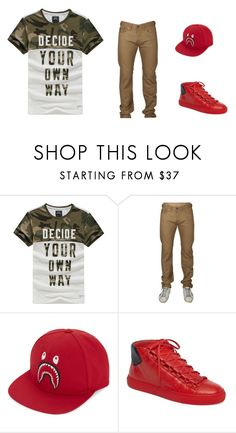 """""""DYOD"""" by taggedbykimmie15 on Polyvore featuring A BATHING APE, Balenciaga, men's fashion and menswear"""