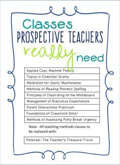 classes prospective teachers really need