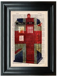 Doctor Who Tardis Print Union Jack Print Retro by PeregrinVintage, €6.99