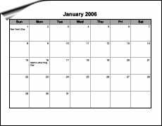 Blank Calendar Page Fill As Needed  Printables