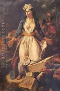 View Greece expiring on the ruins of Missolonghi by Eugène Delacroix on artnet. Browse upcoming and past auction lots by Eugène Delacroix. Delacroix Paintings, Eugène Delacroix, Romanticism Artists, Dark Romanticism, Arte Pop, French Art, Les Oeuvres, Art History, Greece