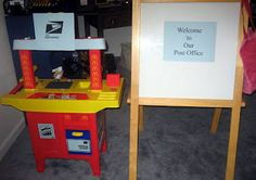 Homemade Post Office..also a great website for connecting activities to children's books.