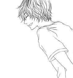 Anime guy/boy manga laughing cute happy smiling smile @Dragneelforever