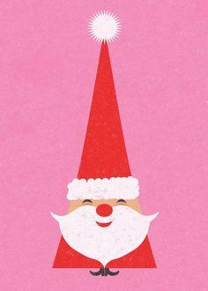#cute #little #santa #christmas #pink