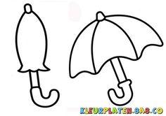 paraplu kleurplaat - Google zoeken