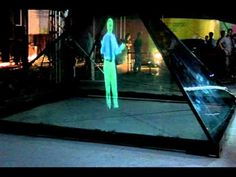 x size hologram by 4 x projectors. Can projetor like video inside the glass, very cyber, best for products showing and exhibition. Hologram Projection, 3d Hologram, Projection Mapping, Interactive Installation, Installation Art, Hologram Technology, Holographic Displays, Video Wall, Inspirational Videos