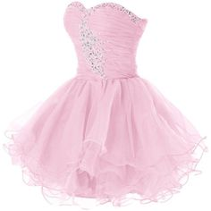 Tidetell Sweety Girls Sequin Cocktail Mini Tulle Homecoming Prom... ❤ liked on Polyvore featuring dresses