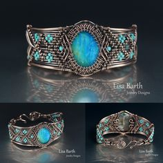 Here's a new I made with copper and Peruvian Blue Opal. --Lisa Barth
