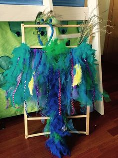 Peacock costume #fancy dress #make up