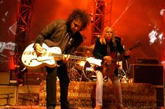 Mike Campbell & Tom Petty during Tom Petty and the Heartbreakers Tour 2002