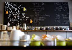 Wholesome Food No Stretch, Blackboard Menu, Lunch Room, Cafe Style, Coffee Corner, Cafe Shop, Green Rose, Wall Patterns, Shop Ideas, Lemon Grass