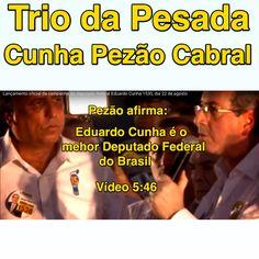 Trio da Pesada: Cunha, Pezão e Cabral [vídeo 5:46] ➤ https://www.youtube.com/watch?v=e06JqasdlxM ②⓪①⑤ ①⓪ ①⑧ #BrazilCorruption