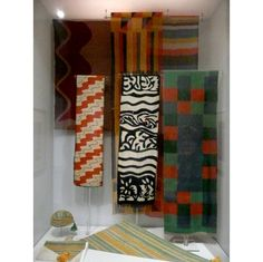 "Replication of Sonia Delaunay's Boutique Simultané (Exposition des Arts Décoratifs et Industriels Modernes, 1925) with her designs, in ""Color Moves: The Art and Fashion of Sonia Delaunay,"" 2011, at the Cooper-Hewitt, National Design Museum"