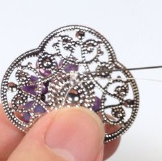 Pip Beaded Flowers on Filigree Earrings Tutorial - The Beading Gem's Journal