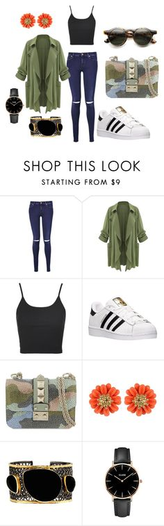 Basic by danielamoralesdonoso on Polyvore featuring moda, Topshop, 7 For All Mankind, adidas, Valentino, Mela Artisans and CLUSE