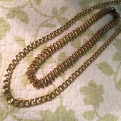 "Two vintage gold tone chains Two big bold vintage chains excellent condition 24 and 18"" Jewelry Necklaces"