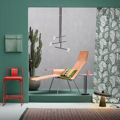Un mur vert pour un intérieur green   #mur #couleur #color #wall #tendance2018