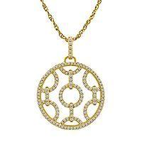 1/2 ct. tw. Diamond Pendant in 10K Yellow Gold