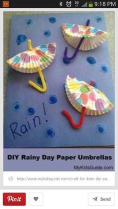 Rain Paper Cupcake Umbrellas