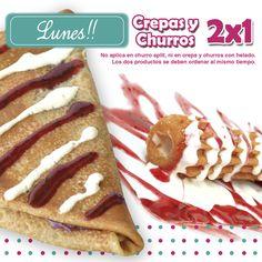 Inicia la semana dulce y positivamente! Crepas y churros al 2x1 en Rocketto. Ven por la tuya! www.rocketto.com