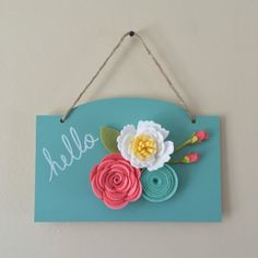 Felt floral Wall Hanger/Sign