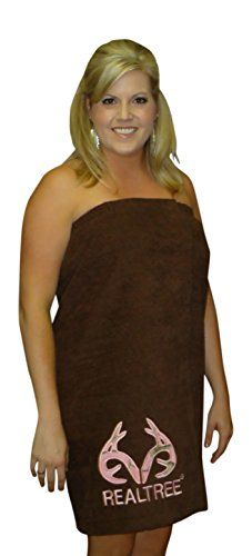 "Realtree Pink Camo Spa Wrap, Womens Swimsuit Cover Up Towel Bath Wrap (1X 2X Length 30"", Pink Logo Applique on Brown Wrap) Realtree Mossy Oak Camo Chique Custom Made USA @peachstateod http://www.amazon.com/dp/B00NGRTRUS/ref=cm_sw_r_pi_dp_o-Kmub0SBAYQ9"