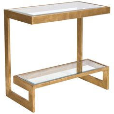 Worlds Away Console Table with Beveled Glass