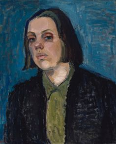 Gunvor Grönvik (Finland 19123-1955), Self-portrait, oil/canvas, 1939. Collection Finnish National Gallery, Helsinki.