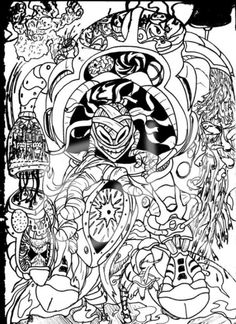 Sketch Cool Trippy Coloring Pages Picture 7 550x757