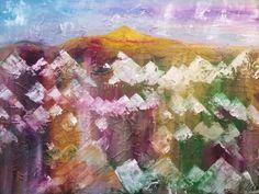 mountains Mischtechnik auf Leinwand ( Originalbild) 80 x 60 cm | KunstiX