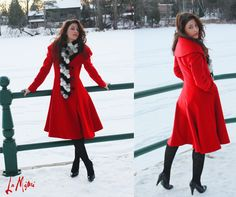 """Bebe red trench winter coat! YES please :) I wish I could like my own pin right now. Next """"winter"""" ;)"""