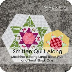 Sew Lux Fabric : Blog: Smitten Quilt Along : Large Block Five and Small Block One