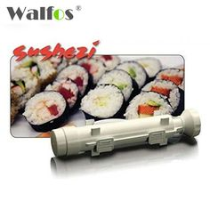 WALFOS Sushi Maker Sushezi Roller Kit DIY Rice Mold Kitchen Sushi Making Tools Set Sushi Rolls Made Easy