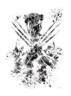 Ilustración de arte PRINT de Wolverine, X-Men, Marvel, decoración casera, arte de la pared