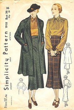 Simplicity 1918 | ca. 1936 Suit