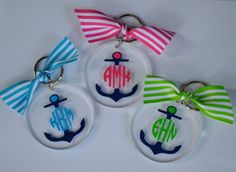Personalized acrylic key chain -ANCHOR MONOGRAM 9.00
