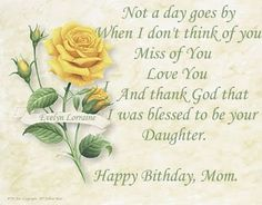 Missing Mom On Her Birthday | Today is my Mom's birthday. I was put up for adoption at about 6 ...