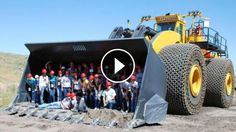 The Biggest Wheel Loader in The World - Check out this 2300HP L-2350... The L-2350 loader from American earthmoving machinery manufacturer LeTourneau Inc. holds the