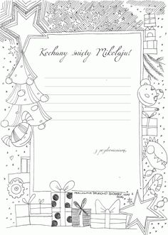 52* List do świętego Mikołaja , szablon 2 | dobrze narysowane... Diy And Crafts, Arts And Crafts, Winter Time, Xmas, Christmas, Kids And Parenting, Preschool, Printables, Baby Shower