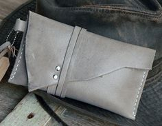 Rolling Tobacco Pouch Leather / Cigarette pouch by FeralEmpire, $48.00