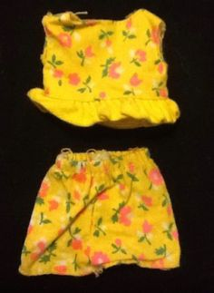 Vintage-Skipper-Yellow-Pink-Floral-Ruffle-Short-Set-Sears-Exclusive-Young-Ideas